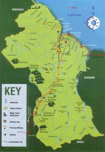 georgetown south america map new plateaus geography spotlight 2 guyana the periphery