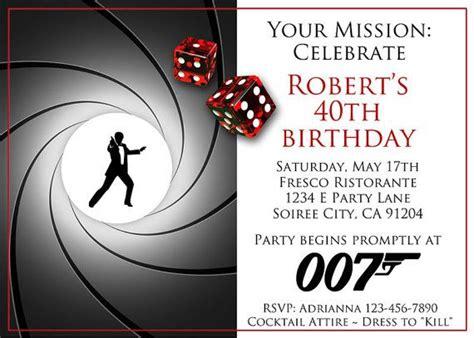 Spy Secret Agent Parties Images James On Las Vegas Themed Birthday Invitations Oxyline Free Bond Invitation Template