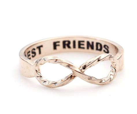 best friend infinity ring in gold on luulla