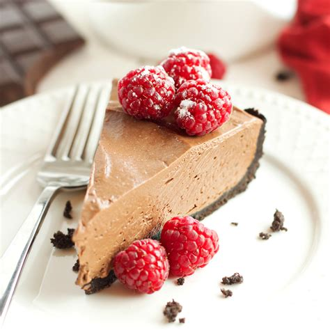 no bake chocolate mousse cheesecake vegan and dairy free