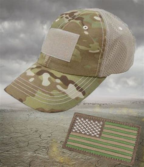 Topi Tactical Velcrotactical Hat condor multicam summer mesh tactical operators cap hat with velcro flag patch caps hats mesh