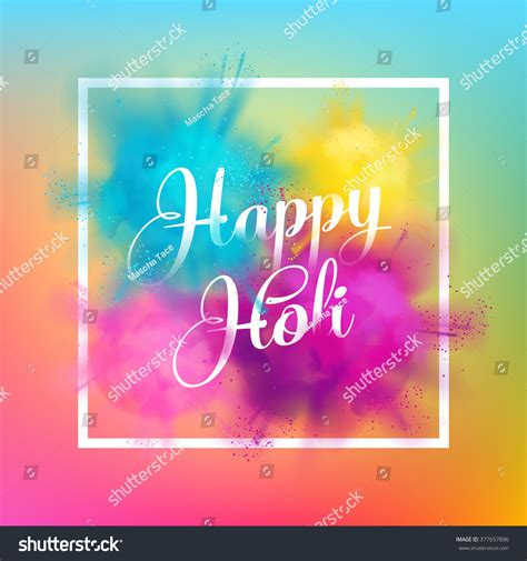 happy paint colors happy holi festival colors greeting stock vector