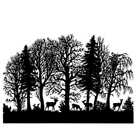 forest silhouette tattoo best 25 forest silhouette ideas on panoramic