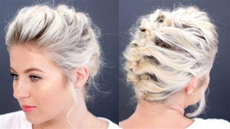 hair tutorial updo less than 5 minutes milabu