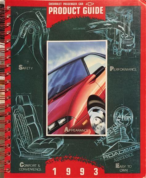 car repair manuals download 1993 chevrolet cavalier electronic toll collection 1993 chevy cavalier repair shop manual original