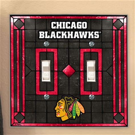 chicago blackhawks bedroom decor chicago blackhawks nhl art glass double light switch plate