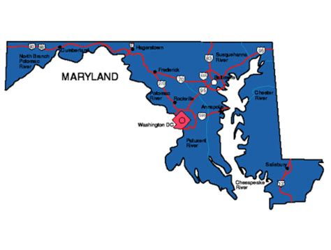 maryland map facts maryland facts symbols tourist attractions