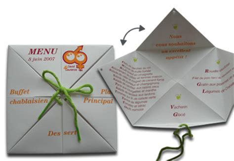 Origami Menu - papeterie mariage on mariage origami and