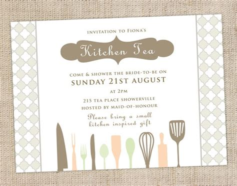 kitchen tea party invitation ideas 31 best kitchen tea invitations images on pinterest