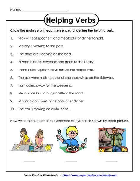 second grade verb worksheets free elmifermetures