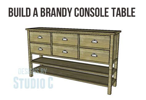 build a console table build a console table