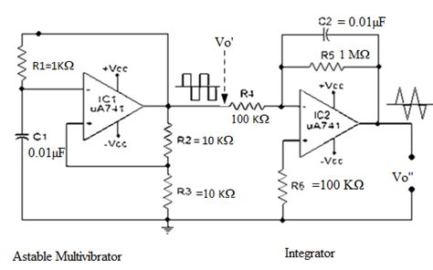 boxcar integrator circuit ic applications and hdl simulation lab notes waveform generator using op 741