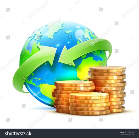 global money transfer vector illustration global money transfer concept stock