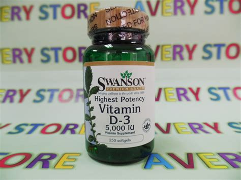 Swanson Highest Potency Vitamin D 3 5000 Iu 250 Softgel swanson high potency vitamin d 3 5000iu 250 softgels