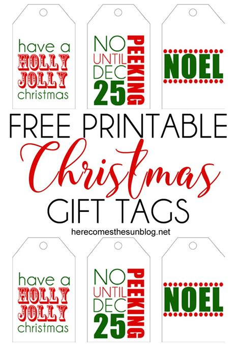 free printable gift tags from organized christmas com printable christmas gift tags here comes the sun