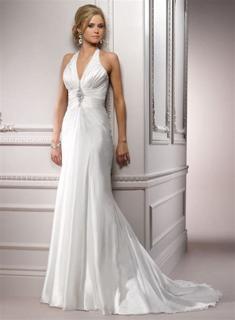 Halter Wedding Dress by Image Gallery Halter Wedding Dresses