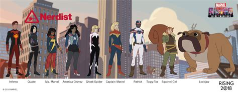 marvel has another 2018 movie secret warriors animated get your first look at the heroes of marvel rising secret