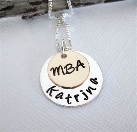 Etsy Mba Gifts by Mba Graduation Necklace Masters Degree Gift By