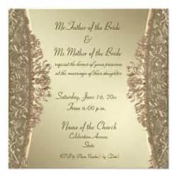 gold wedding invitations gold damask wedding invitations 5 25 quot square invitation card zazzle