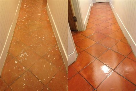 terracotta tiled floor sealing east surrey tile doctor