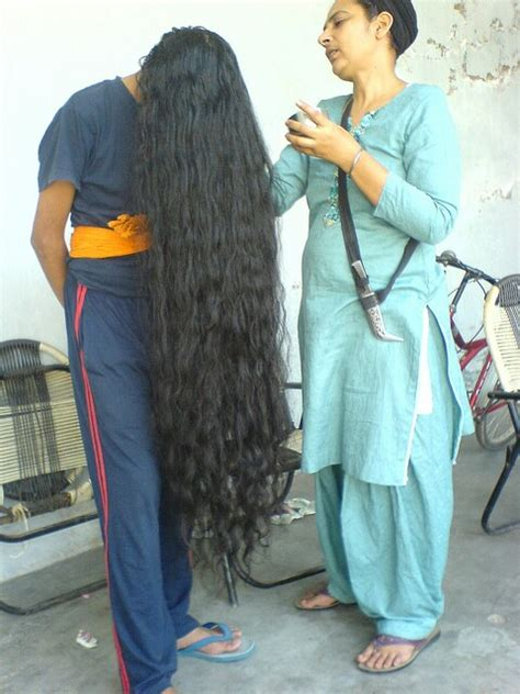 long haircut story for sikh this is my friend s hair without his turban pics