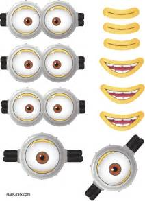 Printable minion face mask printable minion eyes and mouth for