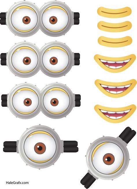 imagenes de minions medicos yeux et bouches des minions 224 d 233 couper et 224 imprimer