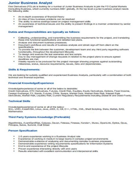 Sle Resume For Business Objects Analyst analyst resume sle 28 images financial analyst resume sle 28 images finance resume sle