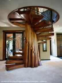 Wooden Spiral Stairs Design Home Design Wood Stair