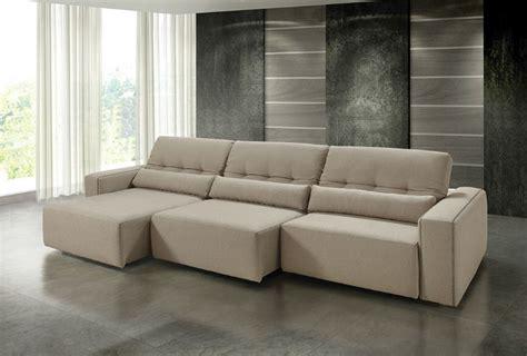 sofa sala de tv sof 225 nerpri retr 225 til reclin 225 vel linho marrom 3 lugares
