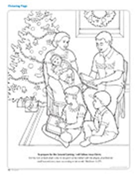 lds coloring pages second coming coloring page friend