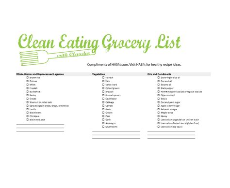 printable grocery list for healthy eating healthy clean eating grocery list grocery list template