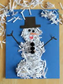 Winter Paper Craft - snowman crafts for