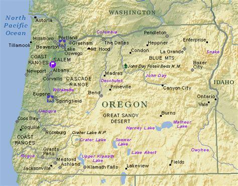 map of oregon major cities oregon