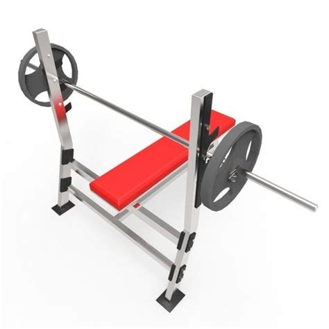 image 3 4 weight bench weight bench 3d model game ready cgtrader