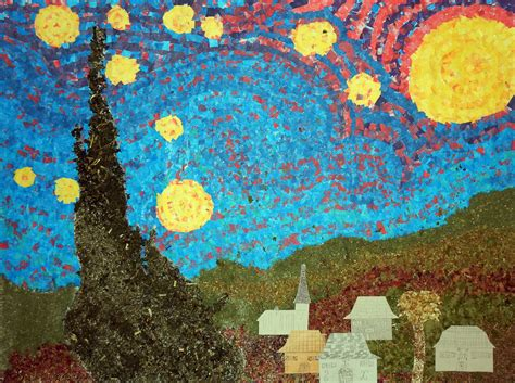 van gogh basic art starry night mural from france art projects for kids