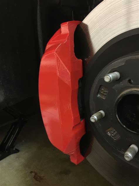 reflective red brake caliper vinyl wrap page  club