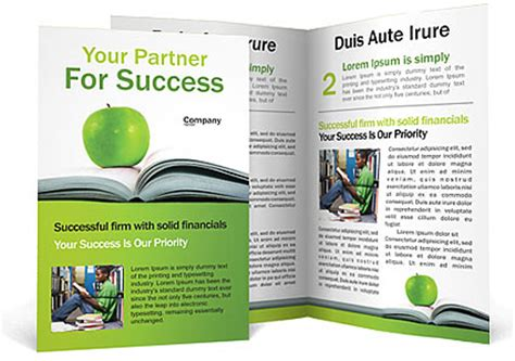 green apple book brochure template design id