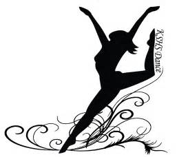 Dance Silhouette Colouring Pages sketch template