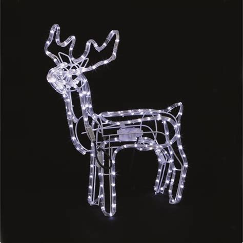 rope lighted christmas deer premier decorations led rope light animated reindeer 70 x 168cm lights topline ie