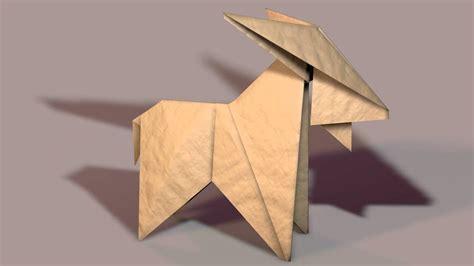 Origami Goat - 3d paper origami goat