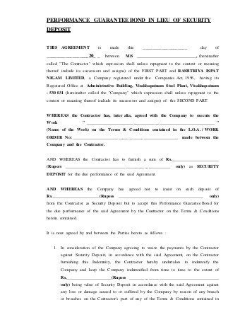 Application Letter For Advance Payment Guarantee application for a performance bond advance payment