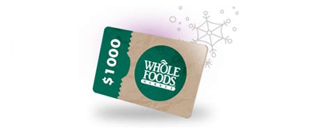 Whole Foods Gift Card - win a 1000 whole foods gift card whole mom