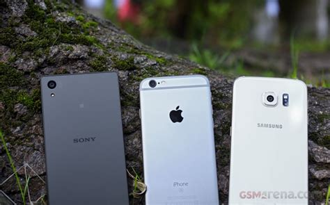 iphone 6s vs galaxy s6 vs xperia z5 gsmarena tests