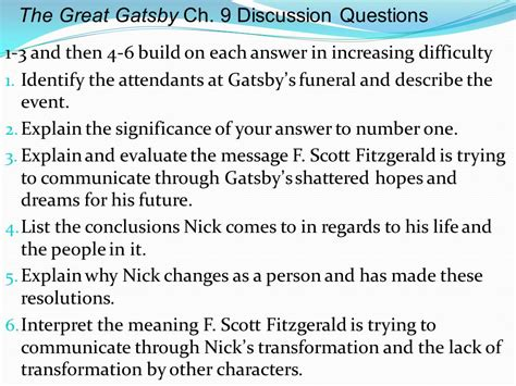 symbols in the great gatsby with page numbers symbols in the great gatsby ppt video online download