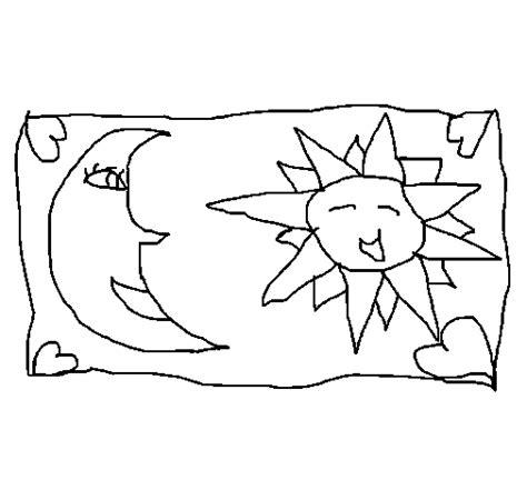 imagenes sol y luna para colorear dibujo de sol y luna 2 para colorear dibujos net