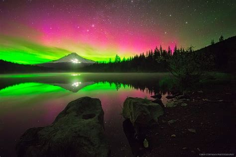 Northern Lights Oregon by The World At With Clear Skies And No Light Pollution