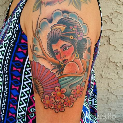 geisha tattoos 70 colorful japanese geisha tattoos meanings and