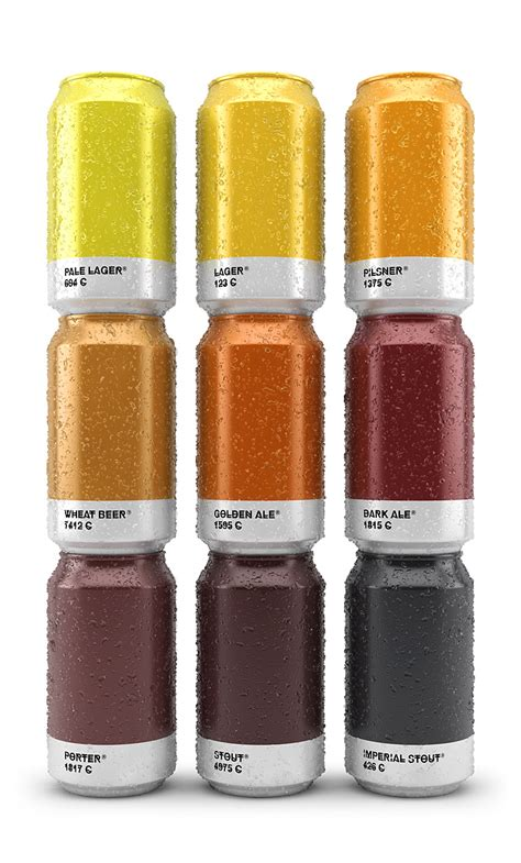 pantone paint cans how cool are these beer cans that show the pantone color