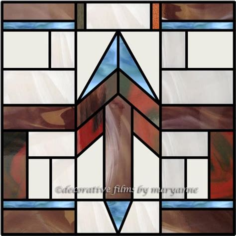 geometric pattern window film southwestern geometric 3 faux privacy stained glass clings